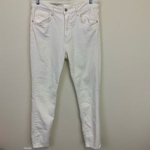Pilcro and the Letterpress White High Rise Skinny